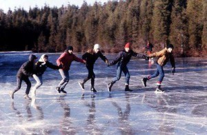 Skaters on Haumerson's Pond